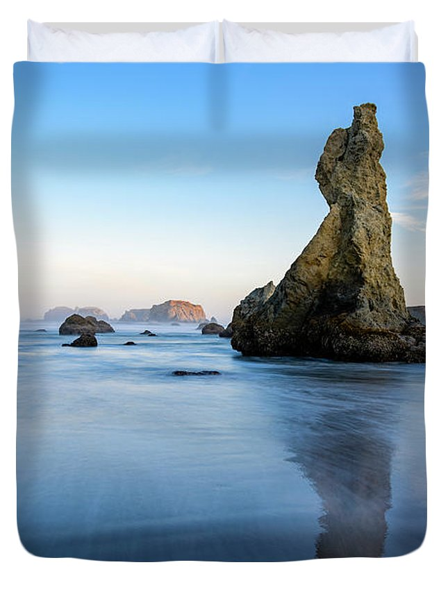 Bandon Beach Duvet Cover featuring the photograph The Witchs Hat by Jim Thompson