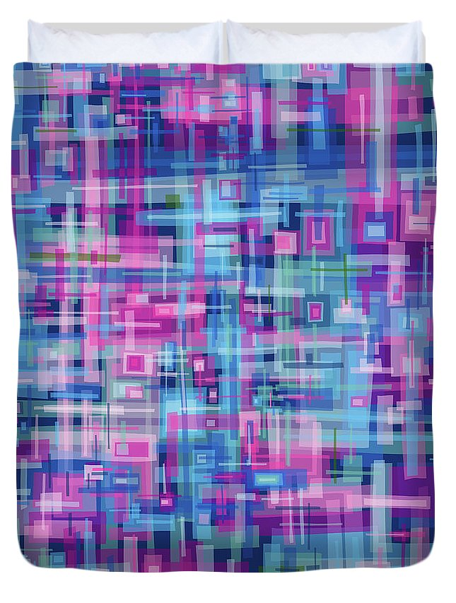 Nonobjective Duvet Cover featuring the digital art Thought Patterns #4 by James Fryer