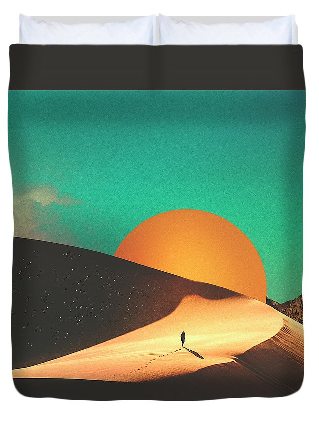Collage Duvet Cover featuring the digital art Thrist by Fran Rodriguez