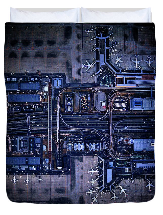 Outdoors Duvet Cover featuring the photograph Tokyo International Airporthaneda by Michael H