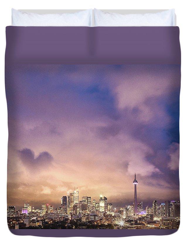 Toronto Duvet Cover featuring the photograph Toronto Love by Richard Gottardo - Info@richardgottardo.com