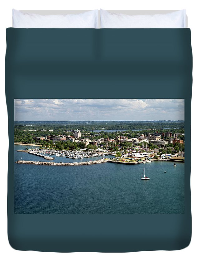 Lake Michigan Duvet Cover featuring the photograph Traverse City, Michigan by Ct757fan