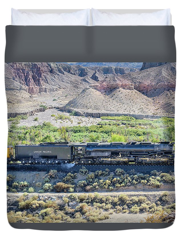 Afton Canyon Duvet Cover featuring the photograph Up4014 Big Boy by Jim Thompson