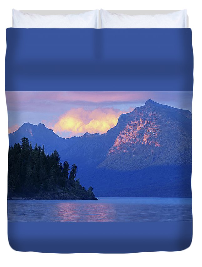 Scenics Duvet Cover featuring the photograph Usa, Montana, Glacier Np, Mountains by Paul Souders