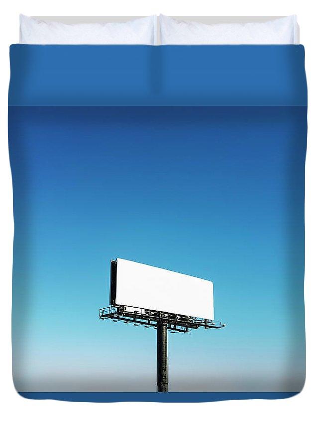 North Carolina Duvet Cover featuring the photograph Usa, North Carolina, Billboard Under by Tetra Images