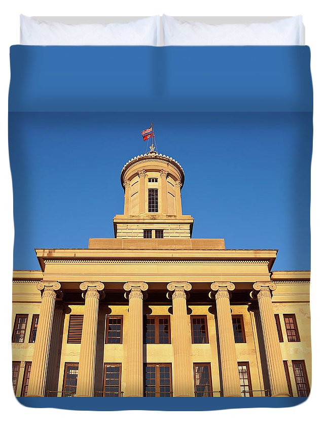 Clear Sky Duvet Cover featuring the photograph Usa, Tennessee, Nashville, State by Henryk Sadura