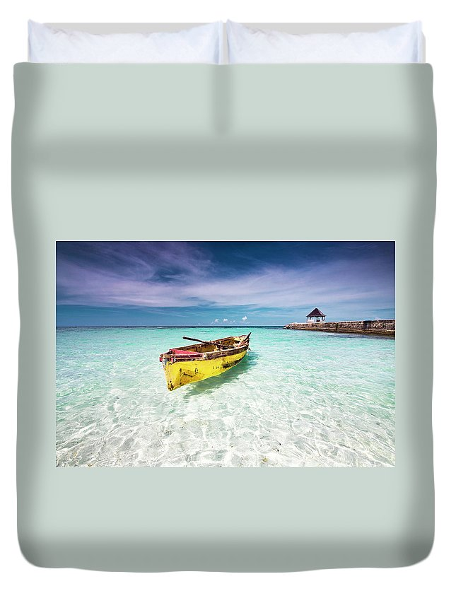 Tranquility Duvet Cover featuring the photograph Vacation by David Neil Madden