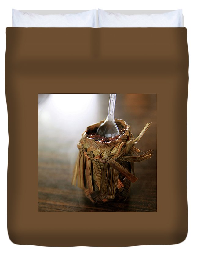 Chinese Culture Duvet Cover featuring the photograph Vanilla Rice by 100