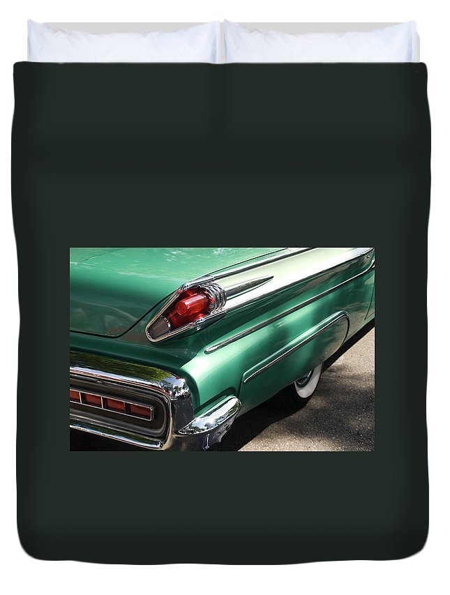 Cool Attitude Duvet Cover featuring the photograph Vintage Tail Fin by Sstop