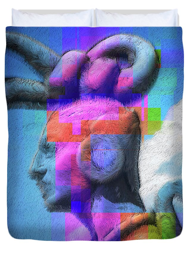 Warrior Duvet Cover featuring the photograph Warrior by Skip Hunt