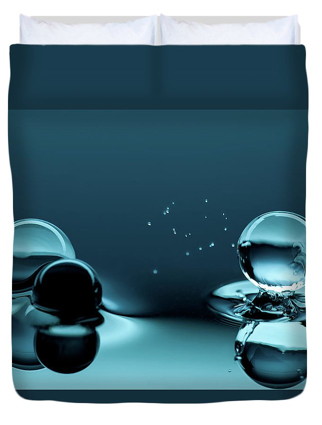Atlanta Duvet Cover featuring the photograph Water Balls by Alex Koloskov Photography
