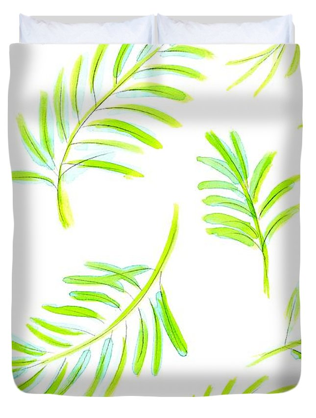 Watercolor Tropical Leaves 1 Duvet Cover For Sale By Marianna Mills To get more templates about posters,flyers,brochures,card,mockup,logo,video,sound,ppt,word,please visit pikbest.com. pixels