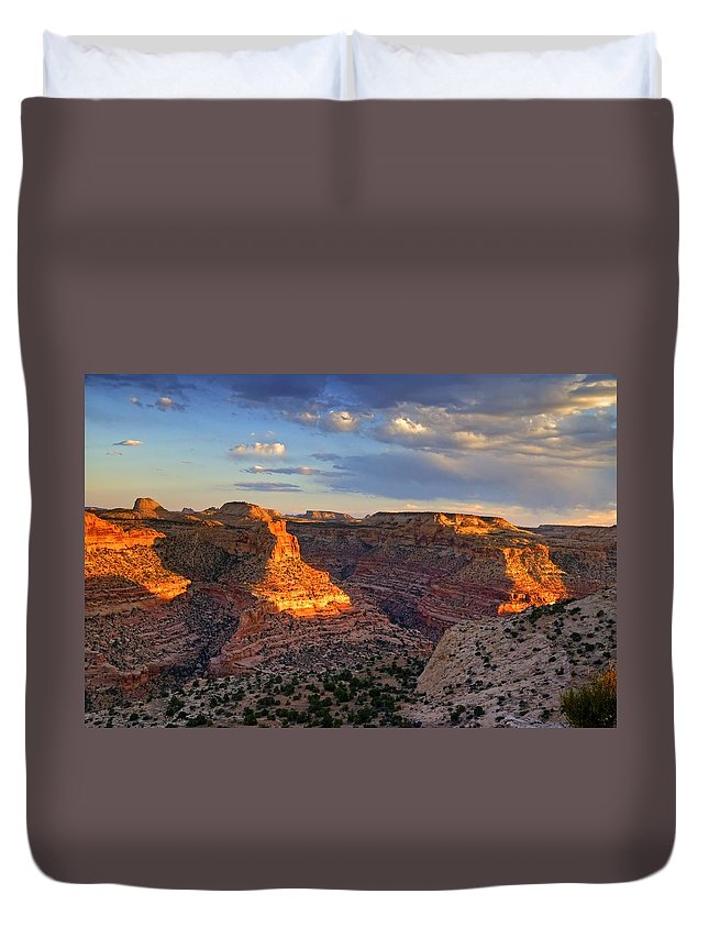 Scenics Duvet Cover featuring the photograph Wedge Overlook by Yvonne Baur