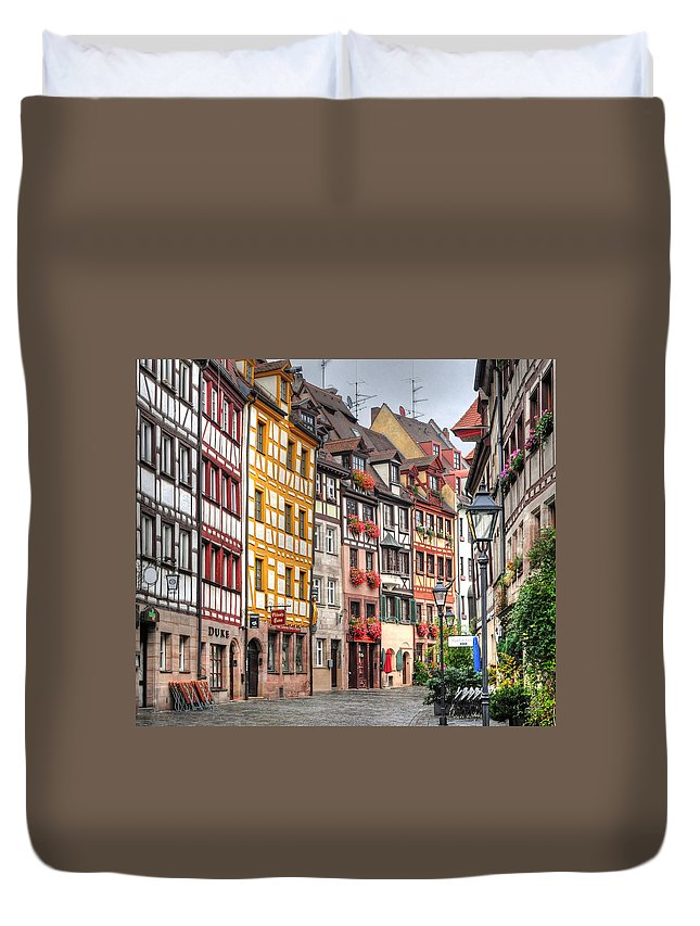 Outdoors Duvet Cover featuring the photograph Weissgerbergasse, Nuremberg by Habub3