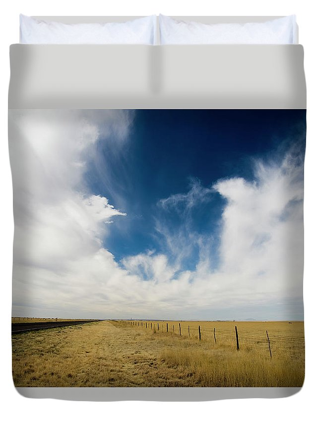 Scenics Duvet Cover featuring the photograph West Texas Grasslands United States Of by Tier Images