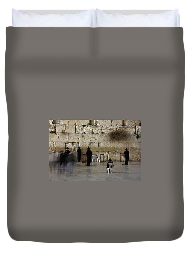 West Bank Duvet Cover featuring the photograph Western Wall by Simon Podgorsek
