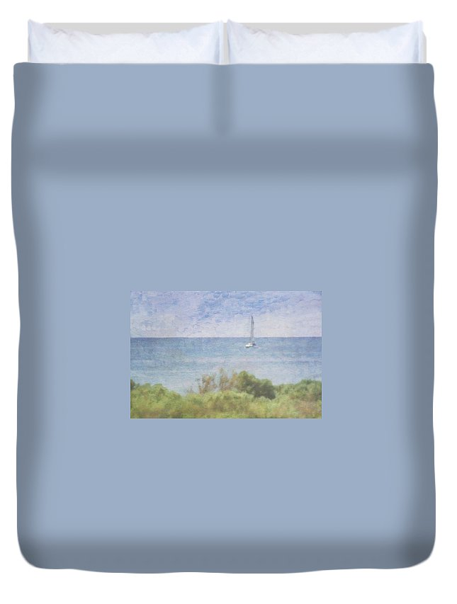 Tranquility Duvet Cover featuring the photograph When Your Boat Comes In by Craig Hewson