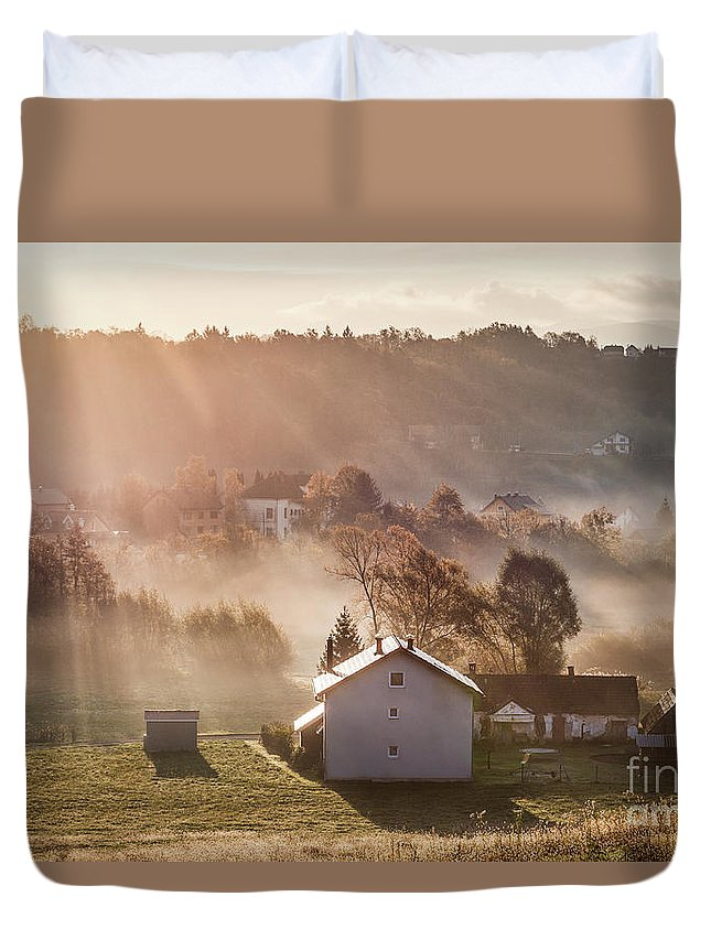 Kremsdorf Duvet Cover featuring the photograph Whispers by Evelina Kremsdorf