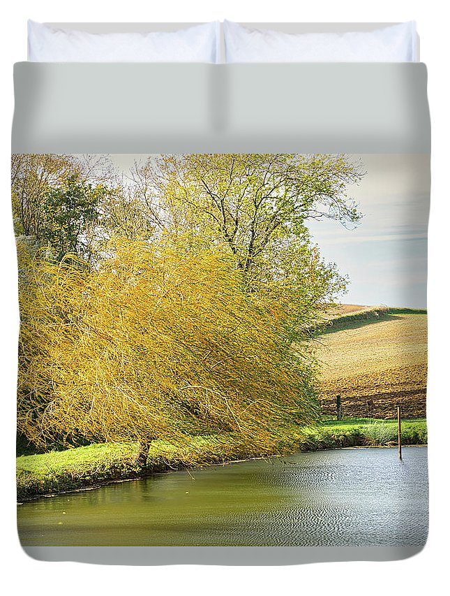 Wind Duvet Cover featuring the photograph Wind In The Willow by Michael Briley