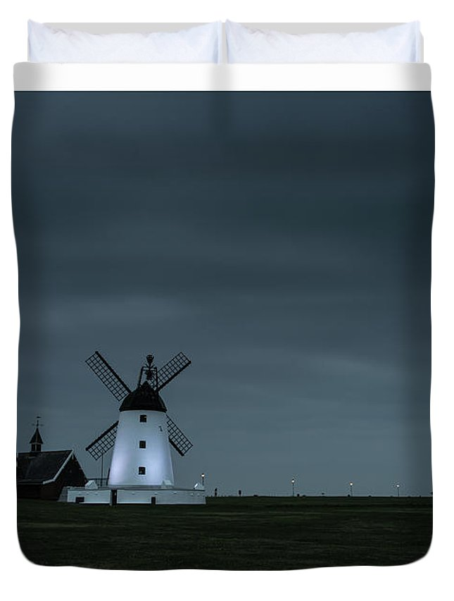 Lytham Duvet Cover featuring the photograph Windmill by Mark Mc neill