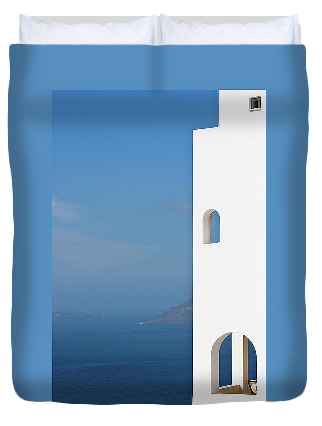 Greece Duvet Cover featuring the photograph Windows To The Blue by Arturbo