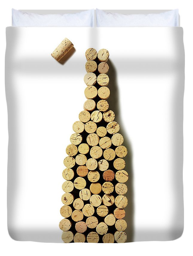 Rose Wine Duvet Cover featuring the photograph Wine Bottle Corks by Wragg