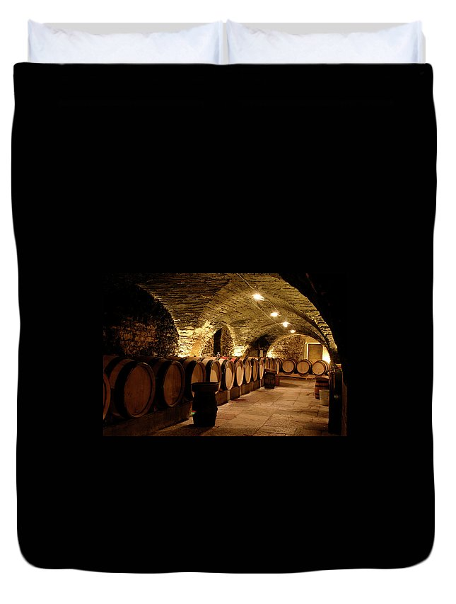 Arch Duvet Cover featuring the photograph Wine Cellar by Brasil2