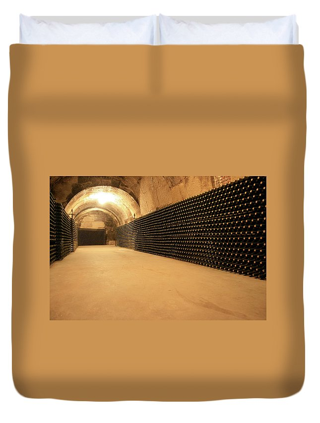 Arch Duvet Cover featuring the photograph Wine Cellar by Manuelvelasco