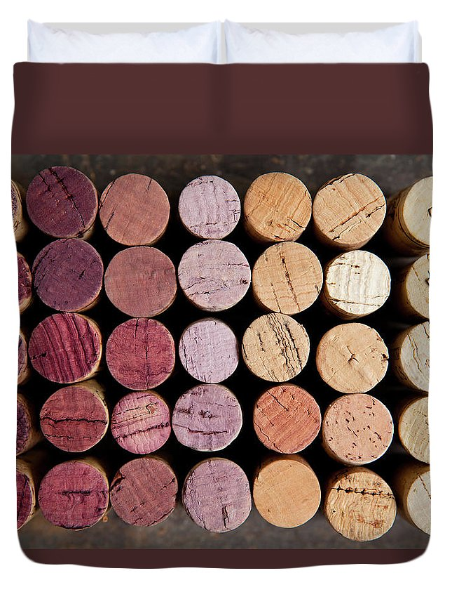 Wine Cork Duvet Cover featuring the photograph Wine Corks by Sematadesign