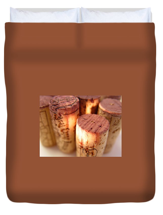 Wine Cork Duvet Cover featuring the photograph Wine Corks Serie Of 28 Images by Luso