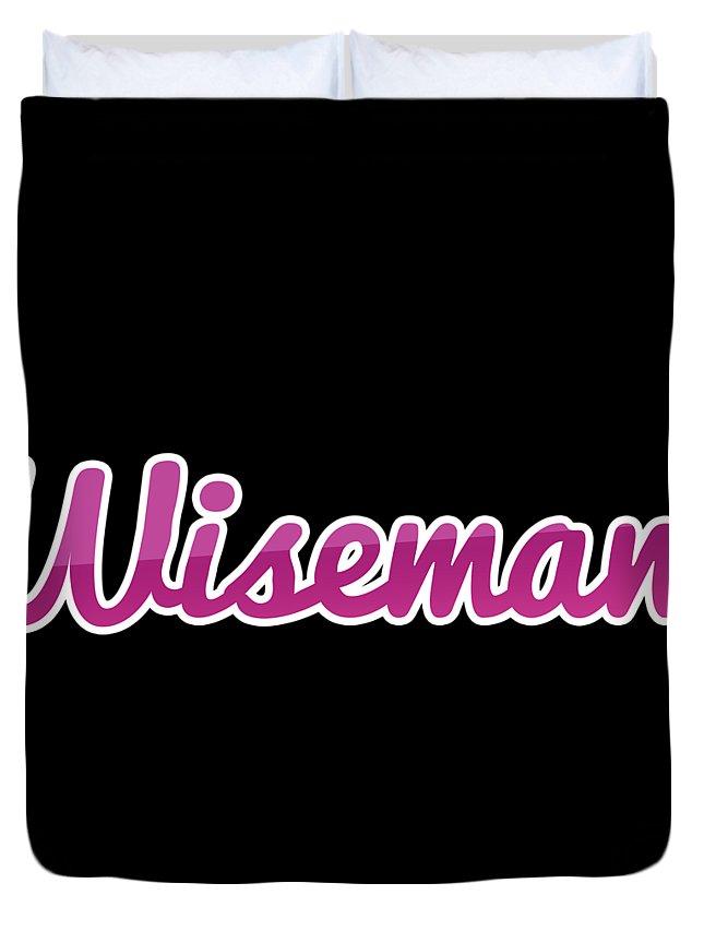 Wiseman Duvet Cover featuring the digital art Wiseman #wiseman by TintoDesigns