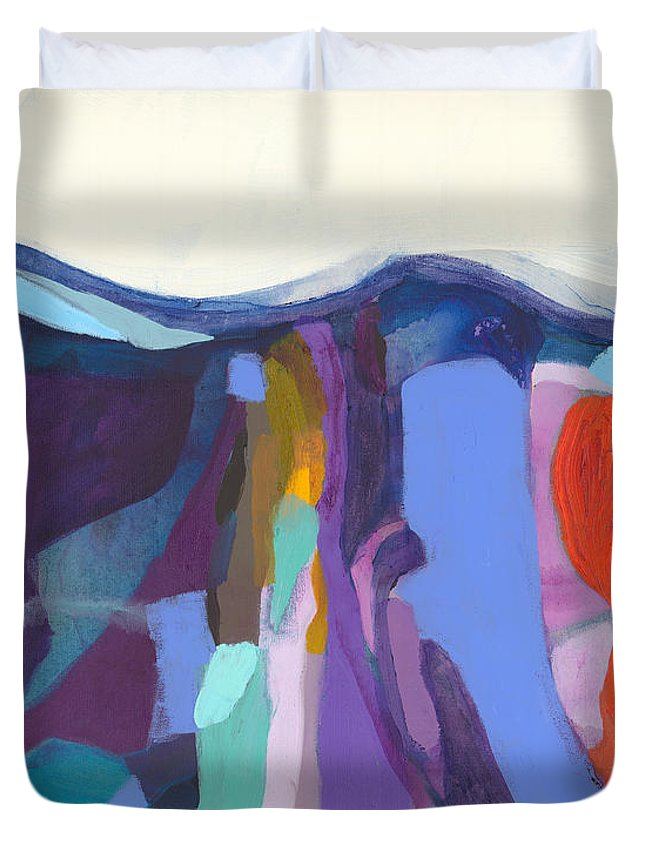 Abstract Duvet Cover featuring the painting With Grace by Claire Desjardins