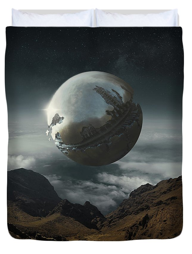 Sphere Duvet Cover featuring the photograph Within by Michal Karcz
