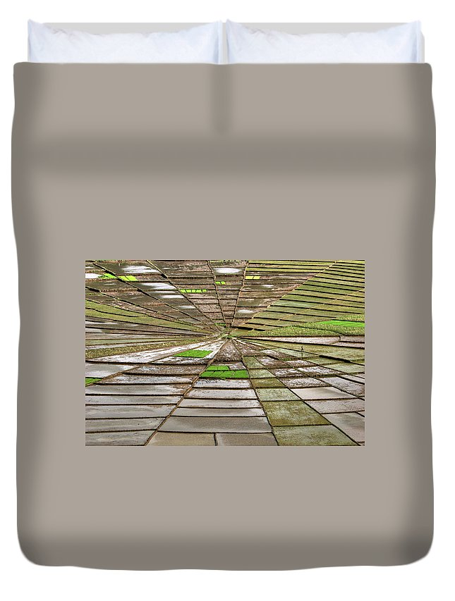 Working Duvet Cover featuring the photograph Working The Spiderwebs by Photo ©tan Yilmaz