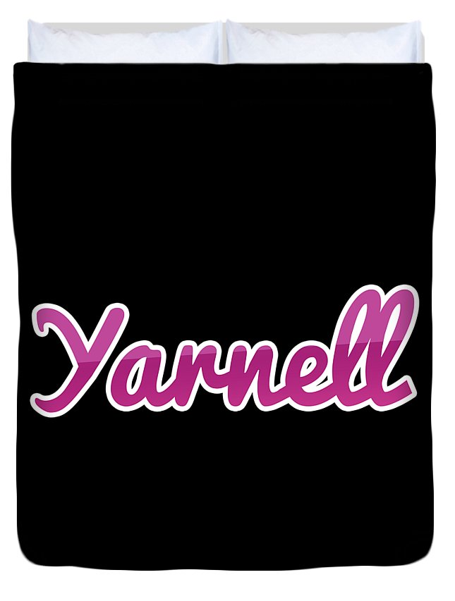 Yarnell Duvet Cover featuring the digital art Yarnell #yarnell by Tinto Designs