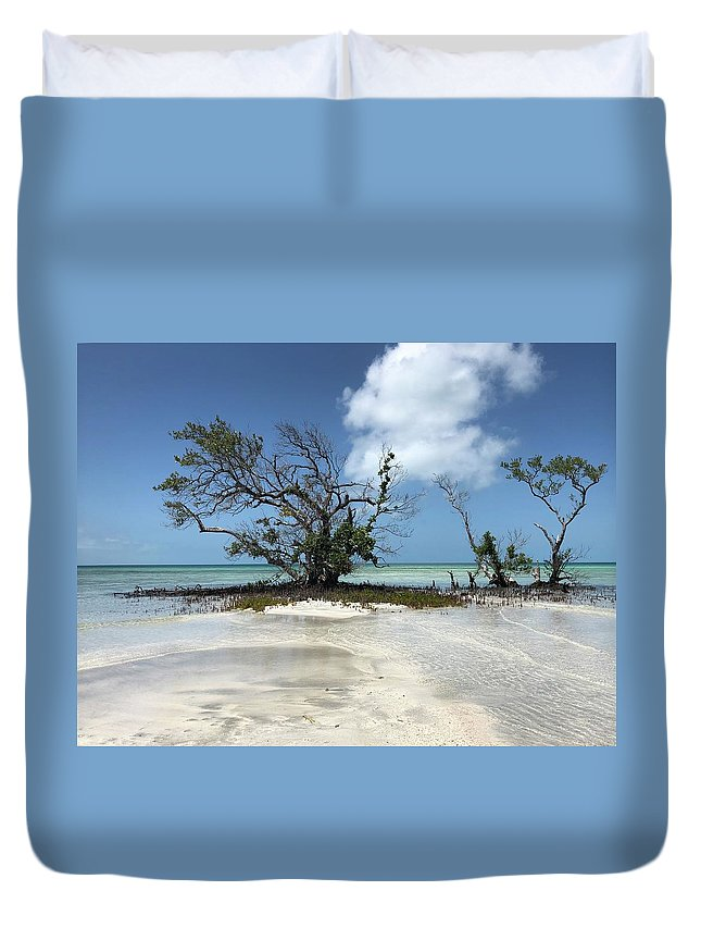 Key West Florida Waters Duvet Cover featuring the photograph Key West Waters by Ashley Turner