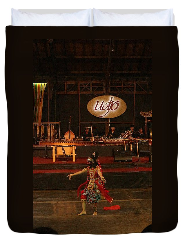 Dance Duvet Cover featuring the photograph Mask Dance by Lingga Tiara Setiadi
