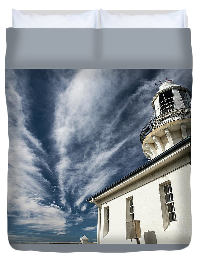 Smoky Cape Lighthouse Duvet Cover featuring the photograph Smoky Cape lighthouse by Sheila Smart Fine Art Photography
