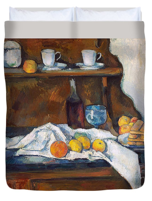 Paul Cezanne Duvet Cover featuring the painting The Buffet, 1877 by Paul Cezanne