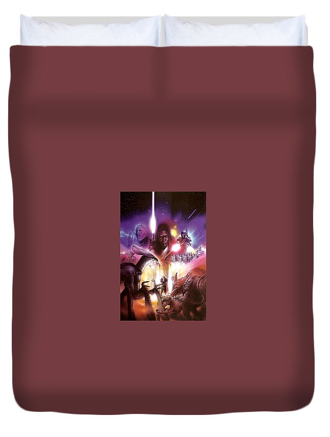 Star Wars - Episode Ii - Attack Of The Clones 2002 Duvet Cover featuring the digital art Star Wars - Episode II - Attack Of The Clones 2002 by Geek N Rock