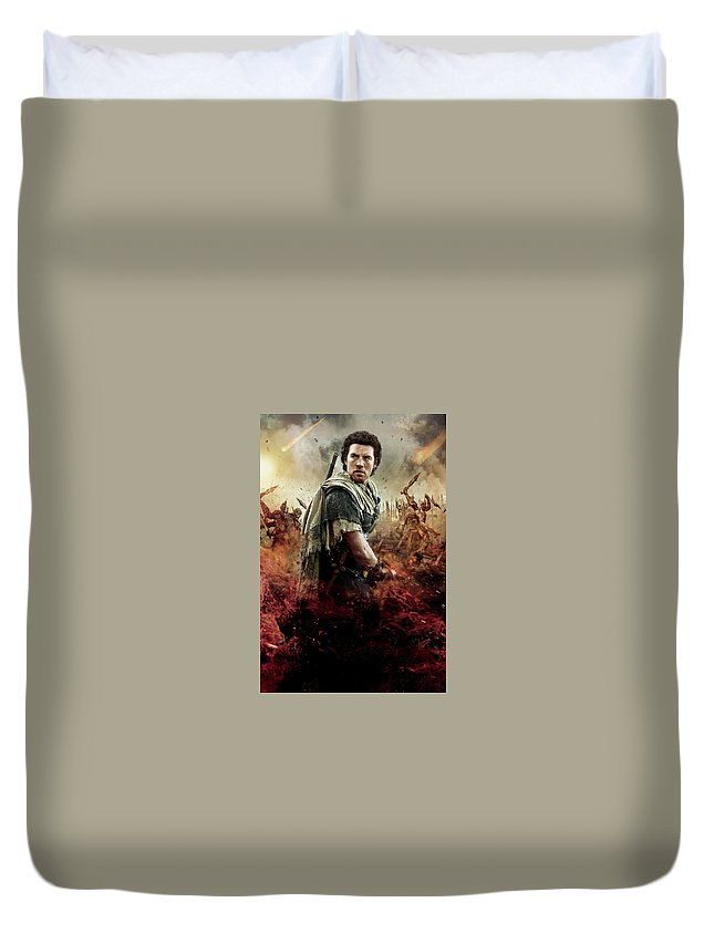 Wrath Of The Titans Duvet Cover featuring the digital art Wrath Of The Titans by Geek N Rock