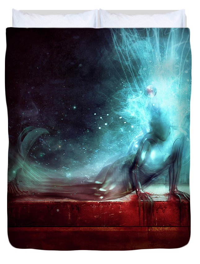 Agony Duvet Cover featuring the digital art A Dying Wish by Mario Sanchez Nevado