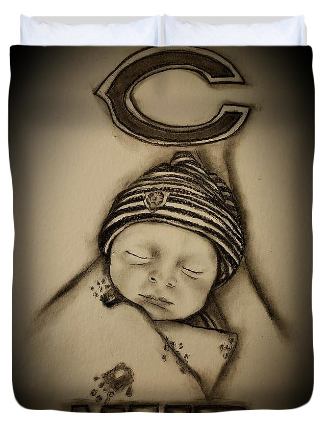 Baby Duvet Cover featuring the drawing A Star is born by Glory Fraulein Wolfe