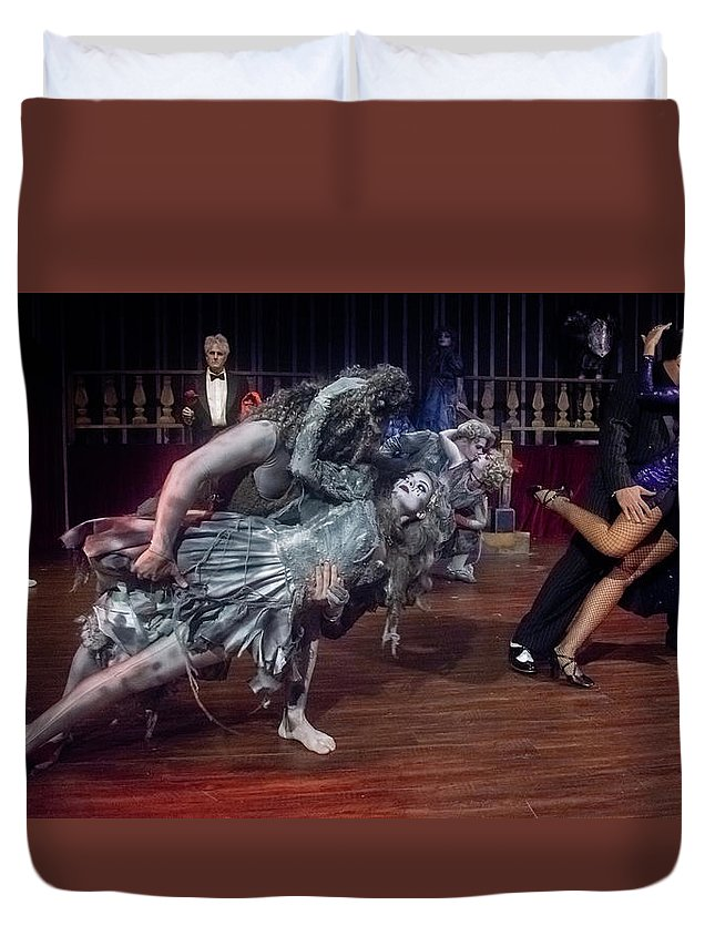 Adams Family Duvet Cover featuring the photograph Adams Family Dance by Alan D Smith