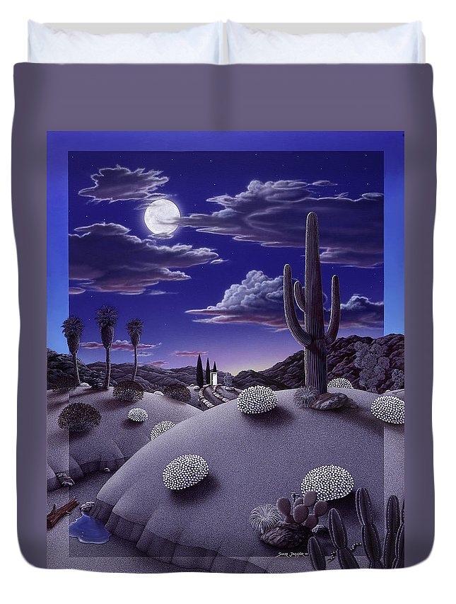 Desert Duvet Cover featuring the painting After the Rain by Snake Jagger