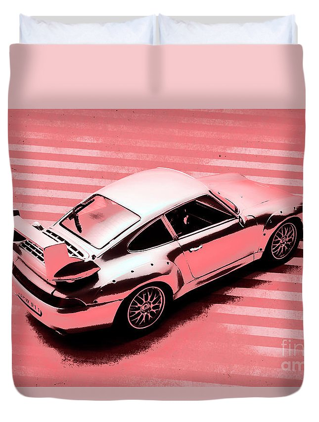 Retro Duvet Cover featuring the photograph Against The Grain by Jorgo Photography - Wall Art Gallery