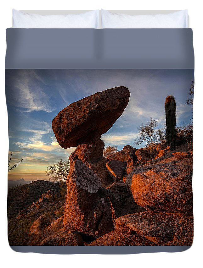 Photography Duvet Cover featuring the photograph Ancient Ones by Kati Astraeir
