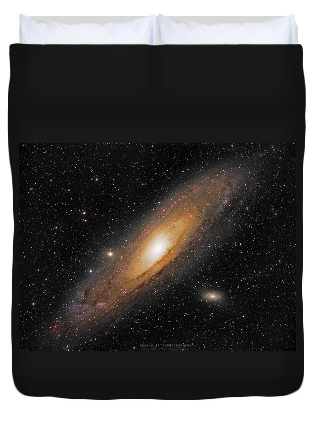 Andromeda Galaxy Duvet Cover featuring the photograph Andromeda Galaxy by Prabhu Astrophotography