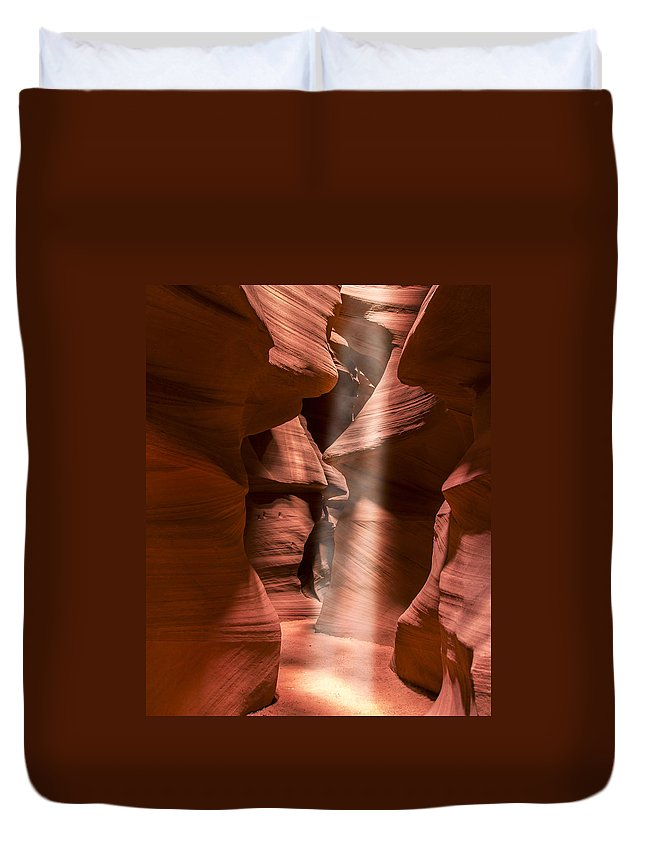 3scape Duvet Cover featuring the photograph Antelope Canyon by Adam Romanowicz