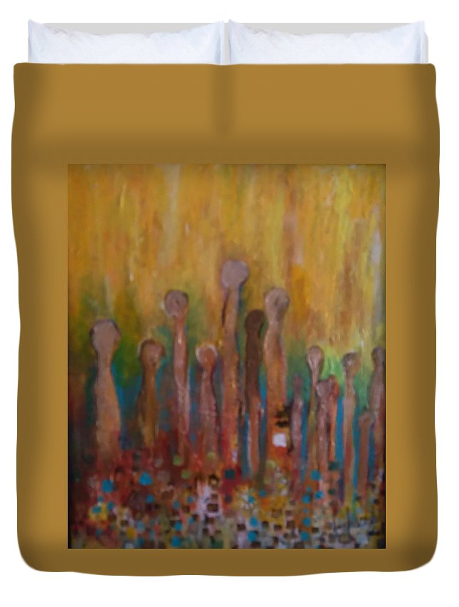 Duvet Cover featuring the painting Ascension by Carol P Kingsley